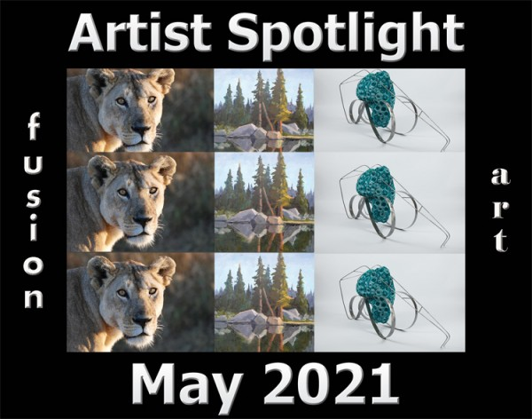 Fusion Art Announces Its May 2021 Artist Spotlight Winners 2