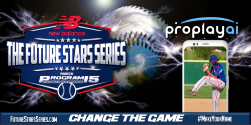 PROGRAM 15 Announces ProPlayAI as the Official Biomechanics Player Development Partner For New Balance Baseball Future Stars Series 1